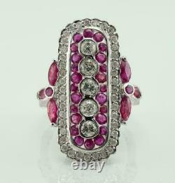 925 Sterling Silver Victorian Edwardian Magnificent Circa Ring 2.71 Ct Diamond