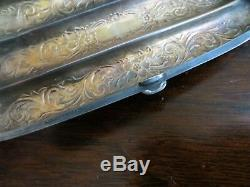 ANTIQUE 1880's ORNATE REPOUSSE STERLING SILVER INSIDE HOLD 3 CIGAR CASE by C. M