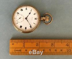 ANTIQUE 1899 STERLING SILVER AWW Co WALTHAM MASS POCKET WATCH Victorian