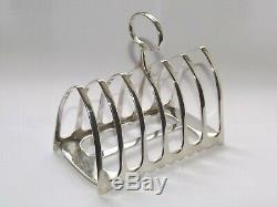ANTIQUE VICTORIAN 155g SOLID SILVER STERLING TOAST RACK SIX DIVISION SHEFF 1890
