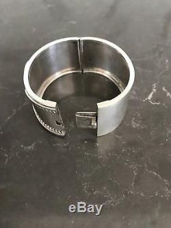 ANTIQUE VICTORIAN ENGLISH STERLING SILVER BANGLE c1880