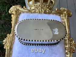 ANTIQUE VICTORIAN STERLING SILVER RING BOX 5 Slot 1895