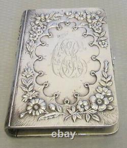 Antique 1891 STERLING SILVER REPOUSSE BOOK COVER Common Prayer Bible diary