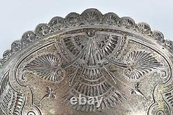 Antique C. 1870's Victorian Sterling Silver Chased Carved Hair Comb Signed D&H