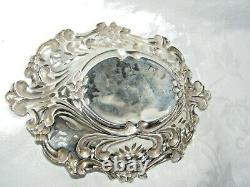 Antique Chester 1898 Silver Bon Bon Dish George Nathan Ridley Hayes Sterling