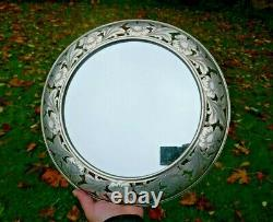 Antique Durgin Sterling Wall Mounted Mirror, Victorian Display Plateau Mirror