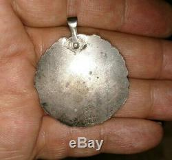 Antique Foster Bailey Victorian sterling silver chatelaine note pad repousse fob