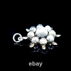 Antique Moonstone Star Sterling Silver Pendant Charm Victorian