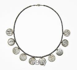 Antique Original 1800s 10 Seated Liberty Dime Love Token Necklace Sterling 925