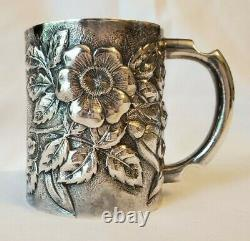 Antique Sterling Childs Cup Repousse Silver by Whiting (never engraved)