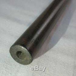Antique Sterling Silver Cap Masonic Walking Stick Cane Malacca Shaft Dated 1871