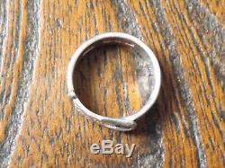 Antique Sterling Silver Victorian Belt & Buckle Ring B'ham 1896 Size P-1/2