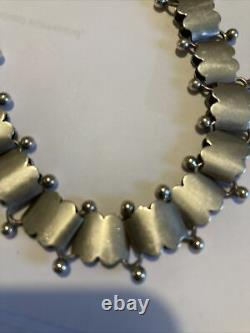 Antique Sterling Silver Victorian Book Chain 16 Collar Necklace