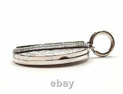 Antique Sterling Silver Victorian Locket Pendant Aesthetic Movement Oval 15.6g
