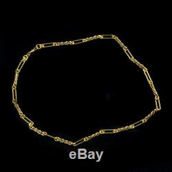 Antique Victorian Chain Necklace 18ct Gold Sterling Silver Circa 1880