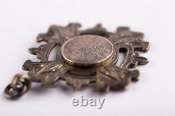 Antique Victorian Chester Sterling Silver Soloman Fob Albert Watch Chain
