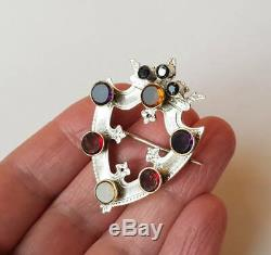 Antique Victorian Large Sterling Silver Scottish Luckenbooth Brooch
