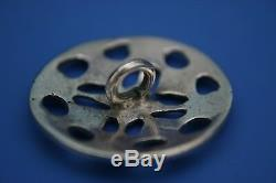 Antique Victorian Large Sterling Silver Set Of 6 Cased Buttons Birm 1900