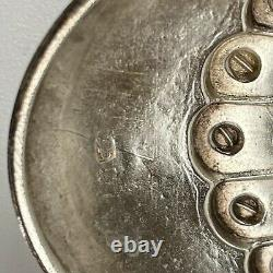 Antique Victorian Solid Sterling Silver Embossed Ornate Two Photo Locket 1890 ER