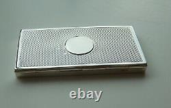 Antique Victorian Solid Sterling Silver Sprung Card Case