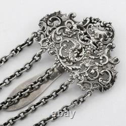 Antique Victorian Sterling Chatelaine with Attachments One Tiffany & Co. Mirror