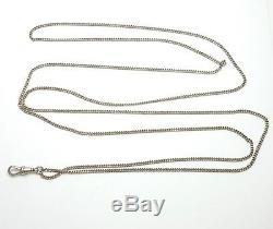 Antique Victorian Sterling Silver 925 Guard / Muff Chain 23.1g 54