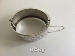 Antique Victorian Sterling Silver Bangle Biringham 1885