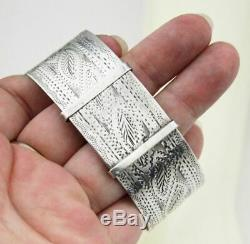 Antique Victorian Sterling Silver Bangle Bracelet Ladies Jewellery Jewelry