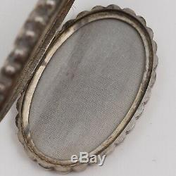 Antique Victorian Sterling Silver Bookchain Book Chain Rose Gold Locket Necklace