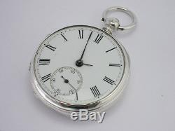 Antique Victorian Sterling Silver English Lever Consular Pocket Watch