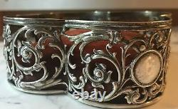 Antique Victorian Sterling Silver Gorham 19thc Large Pin Cushion Rare 4'