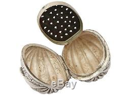 Antique Victorian Sterling Silver Nutmeg Grater by Hilliard & Thomason