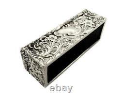 Antique Victorian Sterling Silver Ring Box 1893