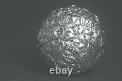 Antique Victorian Sterling Silver Tea Ball Infuser Strainer Heavily Repousse