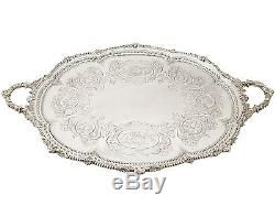 Antique Victorian Sterling Silver Tea Tray by Martin Hall & Co 1881