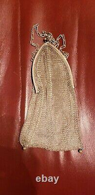 Antique Victorian Whiting& Davis Sterling Silver Mesh Purse