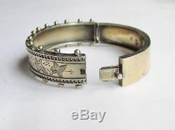 Antique Victorian solid silver sterling bangle bracelet Birmingham 1884