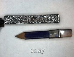 Antique Webster Silver Company Sterling Silver Chatelaine Pencil Holder Case