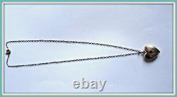 Antique pendant necklace Russian STERLING SILVER 875 heart Victorian locket