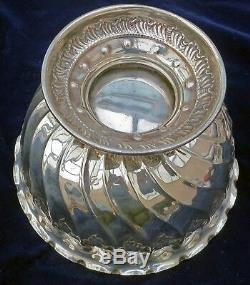 BEAUTIFUL Repousse 1899 Antique Sterling Silver Compote Bowl Sheffield Atkin