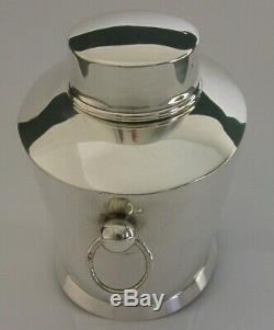Beautiful Victorian Sterling Silver Tea Caddy Canister Box 1899 Antique