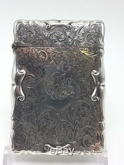 English Sterling Victorian Card Case