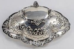 Gorham Antique Victorian Sterling Silver 7.5 Reticulated Dish Bowl Footed