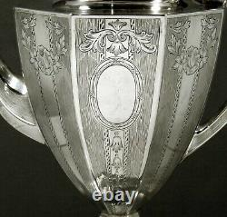 Gorham Sterling Coffee Pot c1920 HAND DECORATED
