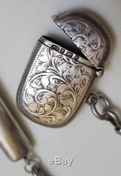 HUGE 19th C VICTORIAN Chatelaine silver sterling necessaire antique accesory