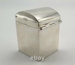 Nice Antique Sterling Silver Patience Playing Card Box & Cards Chester 1900