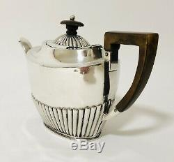Quality Antique Victorian Solid Sterling Silver Teapot Tea Pot 1889