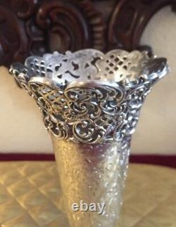 Rare Antique Spaulding Co. STERLING SILVER VASE BEAUTIFUL Very Detailed