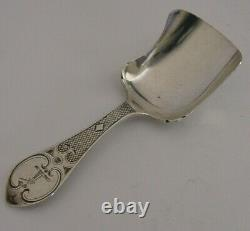 Rare Solid Sterling Silver Warham Family Crested Caddy Spoon 1861 Antique