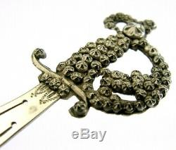 Rare Sterling Silver Bookmark 1898 Victorian Antique Charles Horner Style